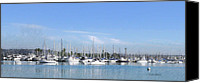 Yachts Digital Art Canvas Prints - Boats on Mission Bay Canvas Print by Russ Harris