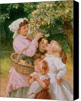 Picker Canvas Prints - Bob Apple Canvas Print by Frederick Morgan
