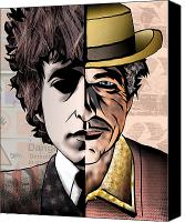Mtv Canvas Prints - Bob Dylan - Man vs. Myth Canvas Print by Sam Kirk