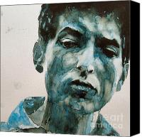 Icon Painting Canvas Prints - Bob Dylan Canvas Print by Paul Lovering