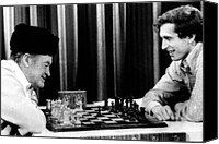 Chess Game Canvas Prints - Bob Hope, Bobby Fischer Playing Chess Canvas Print by Everett