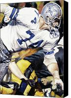 Dallas Cowboys Canvas Prints - Bob Lilly Canvas Print by Rich Marks