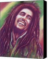 Black Pastels Canvas Prints - Bob Marley Canvas Print by Anastasis  Anastasi