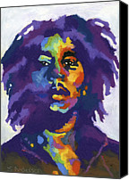 Rock Music Canvas Prints - Bob Marley Canvas Print by Stephen Anderson