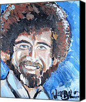 Van Dyke Canvas Prints - Bob Ross  Canvas Print by Jon Baldwin  Art