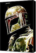 Digital Art Canvas Prints - Boba Fett Canvas Print by Paul Ward