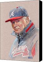 Bobby Canvas Prints - Bobby Cox Canvas Print by Donald Maier