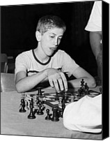 Bobby Canvas Prints - Bobby Fischer, Circa 1957 Canvas Print by Everett