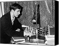 Chess Game Canvas Prints - Bobby Fischer, Circa 1972 Canvas Print by Everett
