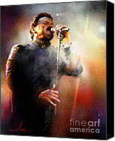 Toto Canvas Prints - Bobby Kimball from Toto 01 Canvas Print by Miki De Goodaboom