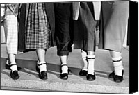1950s Fashion Canvas Prints - Bobby Socks, Ankle High, Often Thick Or Canvas Print by Everett