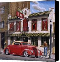 Street Scene Canvas Prints - Bobs Chili Parlor Canvas Print by Craig Shillam