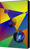 Triangles Digital Art Canvas Prints - Bocce Canvas Print by Anthony Caruso