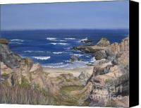 Debbie Pastels Canvas Prints - Bodega Headlands Canvas Print by Debbie Harding