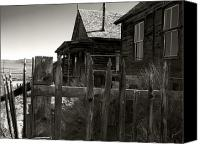 Old Cabins Canvas Prints - Bodie Cabins 4 Canvas Print by Philip Tolok