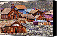 Structures Canvas Prints - Bodie Ghost Town California Canvas Print by Garry Gay
