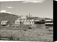 Old Cabins Canvas Prints - Bodie Ghost Town California Gold Mine Canvas Print by Philip Tolok