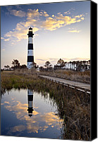 Nc Canvas Prints - Bodie Island Lighthouse - Cape Hatteras Outer Banks NC Canvas Print by Dave Allen