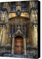 Library Canvas Prints - Bodleian Library Door - Oxford Canvas Print by Yhun Suarez
