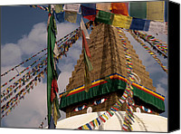 Nepal Canvas Prints - Bodnath Stupa Canvas Print by Nina Papiorek