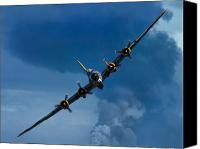 Historic Canvas Prints - Boeing B-17 Flying Fortress Canvas Print by Adam Romanowicz