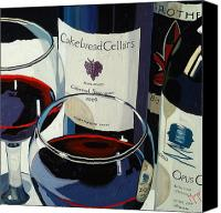 Wine Art Canvas Prints - Bold Reds Canvas Print by Christopher Mize