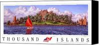 St Lawrence River Canvas Prints - Boldts Castle Poster Canvas Print by Richard De Wolfe