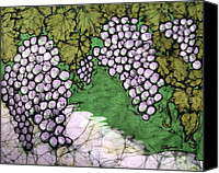 Impressionism Tapestries - Textiles Canvas Prints - Bolero Grapes Canvas Print by Kristine Allphin