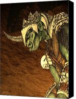 Mythological Canvas Prints - Bolg The Goblin King Canvas Print by Curtiss Shaffer