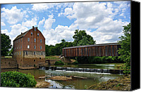 Marty Koch Canvas Prints - Bollinger Mill and Covered Bridge Canvas Print by Marty Koch
