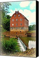Marty Koch Canvas Prints - Bollinger Mill Canvas Print by Marty Koch