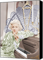 Harlow Canvas Prints - Bombshell, Jean Harlow, 1933 Canvas Print by Everett