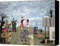 Rural Scenes Tapestries - Textiles Canvas Prints - Bon Temps de Mardi Gras Canvas Print by Charlene White