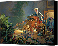 Little Boy Canvas Prints - Bon Voyage Canvas Print by Greg Olsen