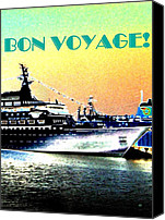 Carefree Canvas Prints - Bon Voyage Canvas Print by Will Borden