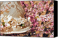 Susan Leggett Digital Art Canvas Prints - Bonnet in Blooms Canvas Print by Susan Leggett