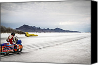 Hot Rod Car Canvas Prints - Bonneville Speed Week 2012 Canvas Print by Holly Martin