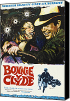 1960s Poster Art Canvas Prints - Bonnie And Clyde, Faye Dunaway, Warren Canvas Print by Everett
