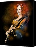 Singer Painting Canvas Prints - Bonnie Raitt Canvas Print by Paul Sachtleben