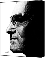 Bono Canvas Prints - Bono - Half the Man Canvas Print by Kayleigh Semeniuk