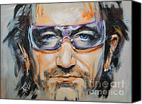 Clayton Painting Canvas Prints - Bono Canvas Print by Stanciu Razvan