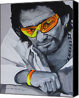 Bono Canvas Prints - Bono  U2 2 U Canvas Print by Eric Dee