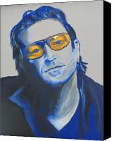 Bono Canvas Prints - Bono U2 Canvas Print by Eric Dee