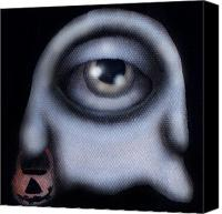 Halloween Painting Canvas Prints - Boo Canvas Print by  Abril Andrade Griffith