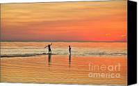 Boogie Canvas Prints - Boogie Boarding Canvas Print by John Greim