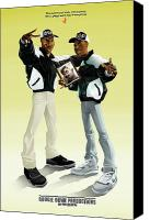 Boogie Canvas Prints - Boogie Down Productions Canvas Print by Nelson Garcia