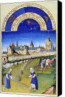 Manor Canvas Prints - Book Of Hours: June Canvas Print by Granger