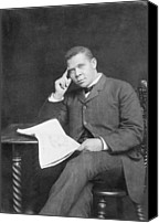 African Americans Canvas Prints - Booker T. Washington 1856-1915, African Canvas Print by Everett