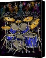 Drum Set Canvas Prints - Boom crash Canvas Print by Russell Pierce