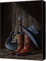 Country Music Canvas Prints - Boots Canvas Print by Antonio F Branco
